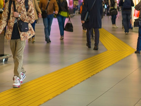 Loges tactile paving - Tactile guide for the visually impaired