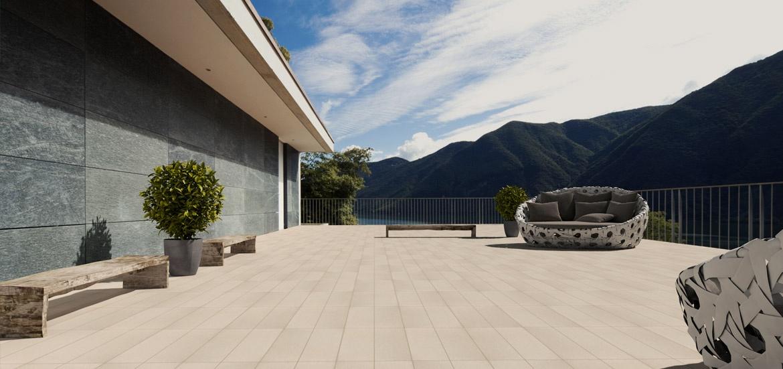 Le doghe piastrelle effetto legno per pavimentazione esterna - Rivestimenti per terrazzi esterni ...